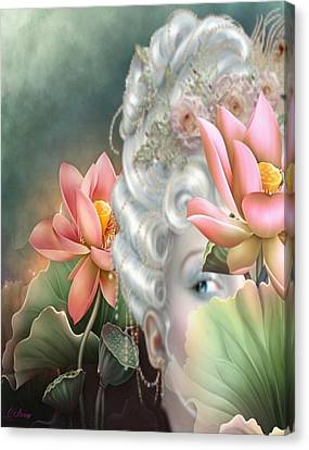 Hidden Among The Lotus Canvas Print by G Berry