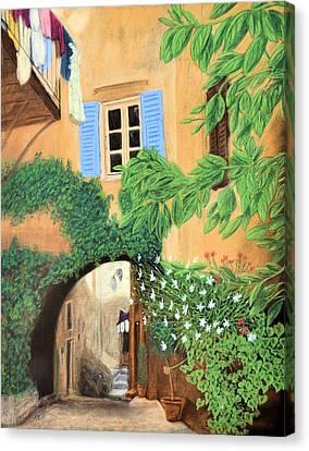 Hidden Cafe Canvas Print