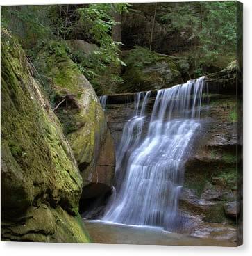 Hidden Falls Canvas Print - Hidden Falls In Hocking Hills by Dan Sproul