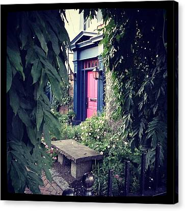 Hidden Garden Door Canvas Print