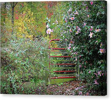 Canvas Print featuring the photograph Hidden Gate by Bellesouth Studio