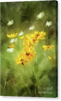 Canvas Print featuring the digital art Hidden Gems by Lois Bryan