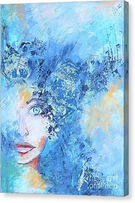 Hidden Face Canvas Print - Hidden by Jutta Maria Pusl