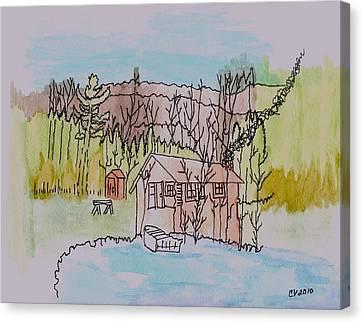 Hidden Lake                      Canvas Print by Connie Valasco