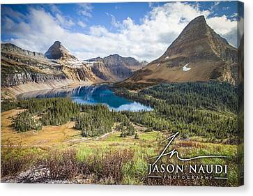 Canvas Print featuring the photograph Hidden Lake by Jason Naudi