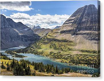 Canvas Print featuring the photograph Hidden Lake Overlook by Jemmy Archer