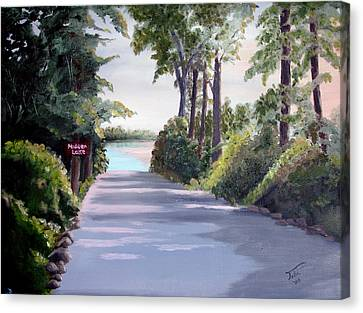 Hidden Lake Canvas Print by Tobi Czumak