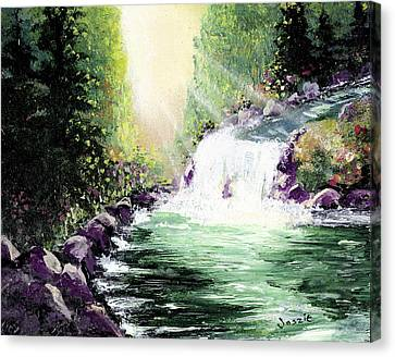 Hidden Paridise Canvas Print by Just Joszie