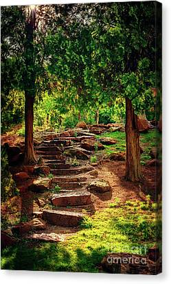 Hidden Path At Honor Heights Park Canvas Print
