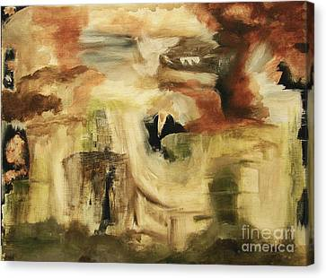 Hidden Places - Contemporary Modern Abstract Art Painting  Canvas Print by Itaya Lightbourne