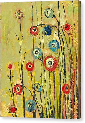 Orange Poppies Canvas Print - Hidden Poppies by Jennifer Lommers