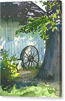 Wagon Wheels Canvas Print - Hidden Shadows by Spencer Meagher