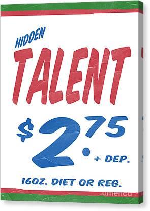 Hidden Canvas Print - Hidden Talent Supermarket Series by Edward Fielding