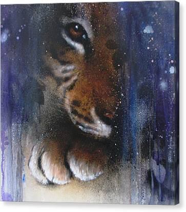 Hidden Tiger Canvas Print by Jackie Flaten