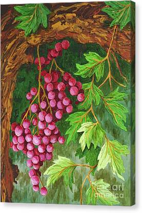 Grape Pickers Canvas Print - Hidden Treasure by Katherine Young-Beck