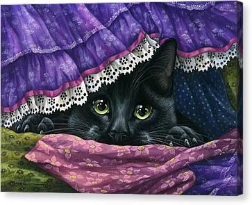 Hidden Under The Fabric Canvas Print by Irina Garmashova-Cawton