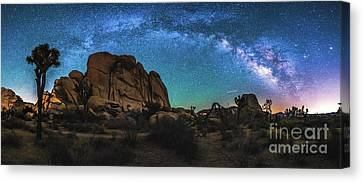 Hidden Valley Milky Way Panorama Canvas Print