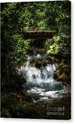 Hidden Waterfall At Chickasaw National Recreation Area Canvas Print by Tamyra Ayles