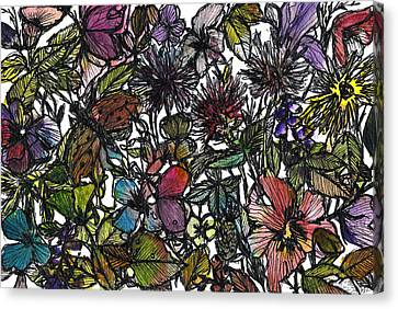 Hide And Seek In Wildflower Bushes Canvas Print by Garima Srivastava