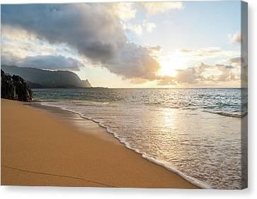 Hide Away Beach Canvas Print