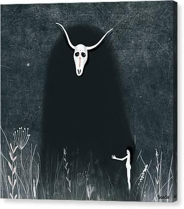 Hide My Soul Canvas Print by Soosh