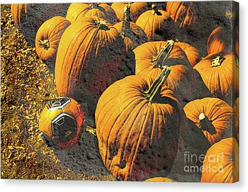 Hiding In Plain Pumpkin Canvas Print