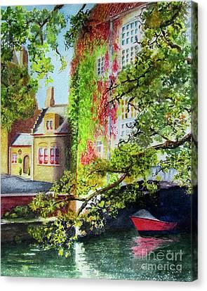 Hiding Canvas Print by Karen Fleschler