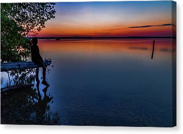 Higgins Lake Sunrise Canvas Print