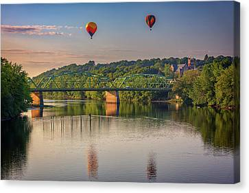 Old Mills Canvas Print - High Above The Androscoggin by Rick Berk