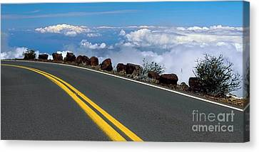 High Above The Clouds Canvas Print by Frank Wicker