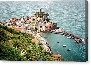 High Above Vernazza Cinque Terre Italy Canvas Print