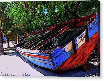 High And Dry Canvas Print by David Coleman