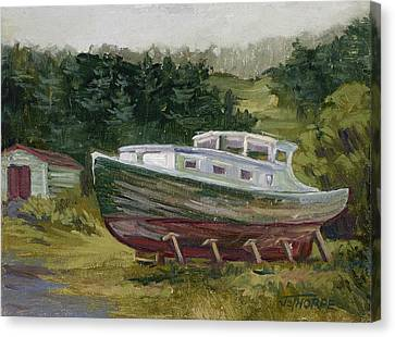 High And Dry Canvas Print by Jane Thorpe
