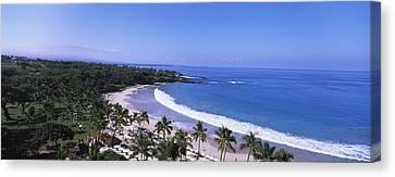 High Angle View Of A Beach, Mauna Kea Canvas Print