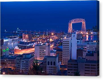 High Angle View Of A City, Canal Park Canvas Print