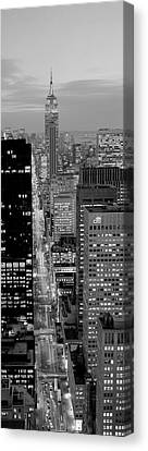 High Angle View Of A City, Fifth Avenue, Midtown Manhattan, New York City, New York State, Usa Canvas Print by Panoramic Images