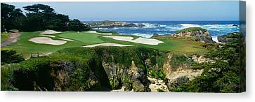 High Angle View Of A Golf Course Canvas Print