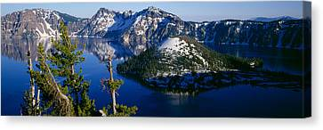 High Angle View Of A Lake, Crater Lake Canvas Print