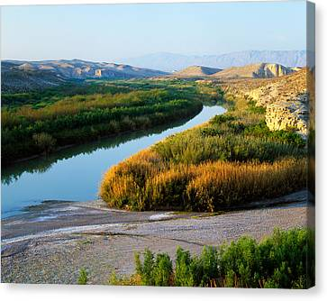 High Angle View Of Rio Grande Flood Canvas Print by Panoramic Images