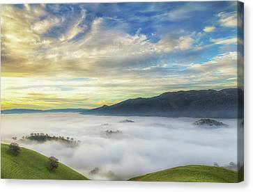 Brentwood Canvas Print - High Clouds Above Fog by Marc Crumpler