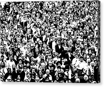 High Contrast Image Of Crowd, C.1970s Canvas Print by R. Krubner/ClassicStock