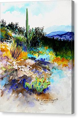 High Desert Scene Canvas Print by M Diane Bonaparte