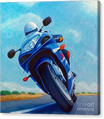 High Desert Pass - Suzuki Gsxr1000 Canvas Print