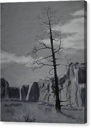 Canvas Print featuring the painting High Desert Skeleton by Nancy Jolley