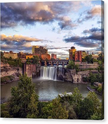 Canvas Print featuring the photograph High Falls Crop by Mark Papke