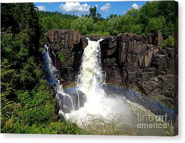 High Falls On Pigeon River Canvas Print