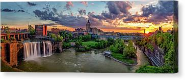 High Falls Panorama Canvas Print by Mark Papke