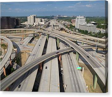 High Five Interchange, Dallas, Texas Canvas Print by Jeff Attaway