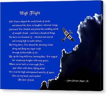 High Flight Canvas Print by Mike Flynn