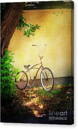 Canvas Print featuring the photograph High Handle-bar Bicycle by Craig J Satterlee